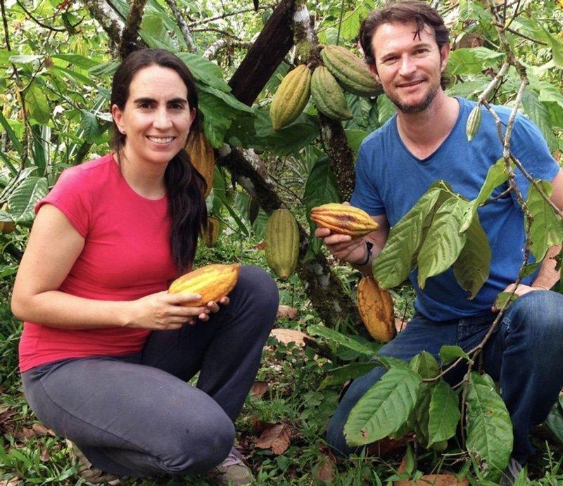 Santiago Peralta y Carla Barbotó - fundadores de Chocolates Pacari
